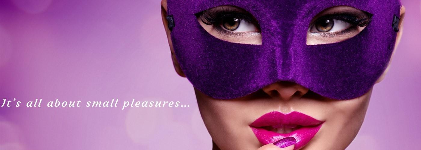 fioletowa maska